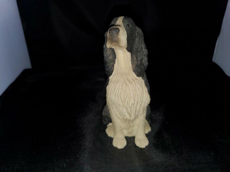 Sandicast Black & White Springer Spaniel 1990 Figurine