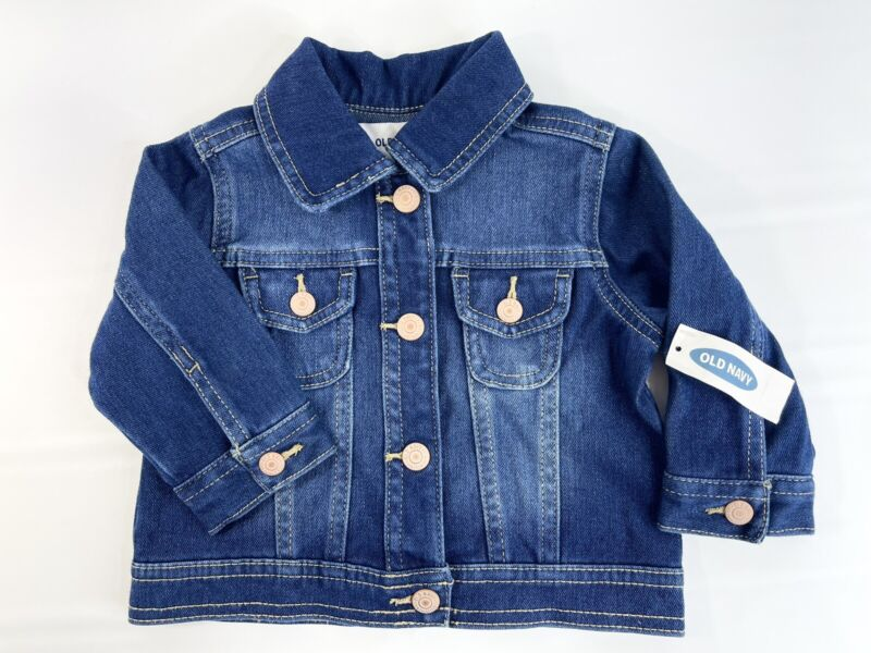 Old Navy Baby Girl's 12-18 Months Toddler Blue Denim Long Sleeve Jean JacketNWT