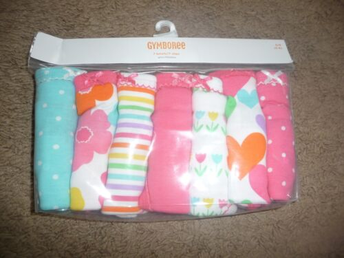 NWT Gymboree Girls size 2-3T Panties Underwear 7 Pair Briefs flowers hearts NEW