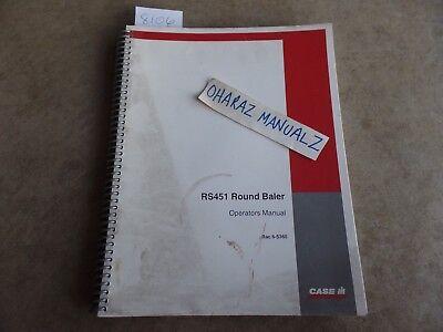 Case Rs451 Round Baler Operators Manual 6-5360