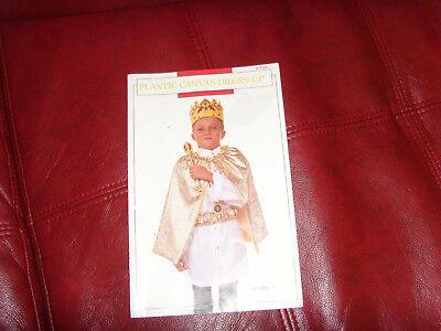Plastic Canvas Dress-Up craft booklet super cute kids costume ideas RARE copy