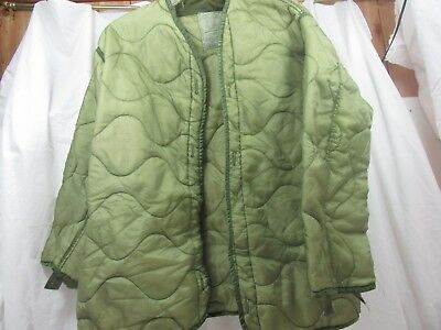 US Parka Cold Weather Liner Coat Insert OD Green Army Size X-Large