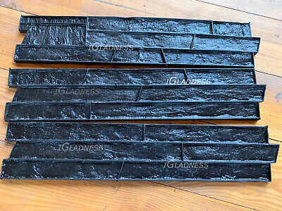 Set3pcs Granite Stone Slate Seamless Concrete Texture Rubber Stamp Mat Wall Mold