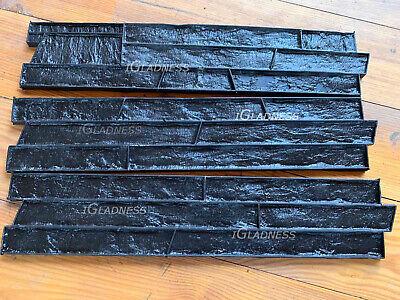 Set3pcs Granite Stone Slate Seamless Concrete Texture Rubber Stamp Mat Wall Mold