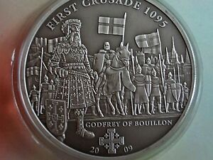 1st Crusade: Godfrey of Bouillon Silver Coin 5$ Cook Islands 2009 1000 pcs - <span itemprop='availableAtOrFrom'>Ogrodzieniec, Polska</span> - 1st Crusade: Godfrey of Bouillon Silver Coin 5$ Cook Islands 2009 1000 pcs - Ogrodzieniec, Polska