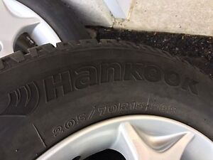 4 winter tires with mag 295/70/15 (5x114.3)