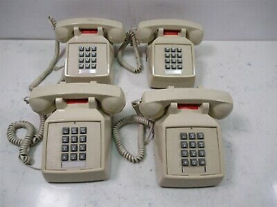 Lot of 4 Cortelco 250044 VBA 20MC Corded Office Telephones Beige Phones