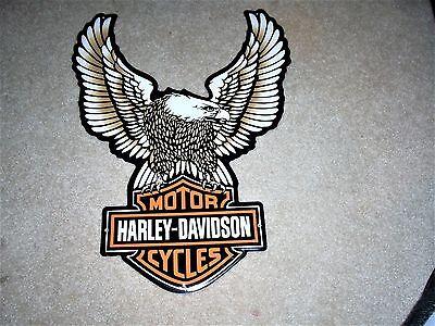 Harley Davidson Eagle Motorcycles Metal Tin Tacker Sign New