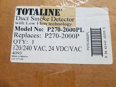 Carrier Totaline 4-wire Duct Smoke Detector 120240vac 24vdcac P270-2000pl Nos