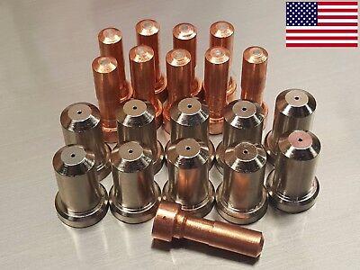 20pc 33366 Electrodes 33418 80a Nozzles For Esab Pt-23 Pt-27 Plasma Cutter