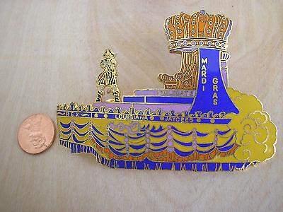 "Rare 1978 Louisiana Jaycees Pin Krewe of REX Mardi Gras King's Float 3.5"" x 2.5"""