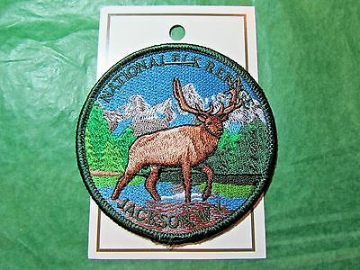 NATIONAL ELK REFUGE JACKSON WYOMING EMBROIDERED PATCH TRAVEL SOUVENIR-P65