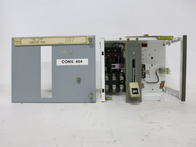 "Siemens Tiastar Furnas System 89 30 Amp Fusible 12"" Feeder MCC Bucket Fused 30A"