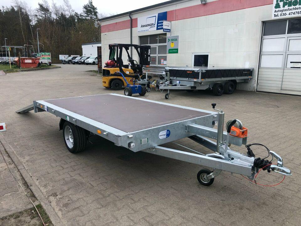 ⭐️ Eduard Auto Transporter 1800 kg 311x180 Rampen Winde 63 in Schöneiche bei Berlin