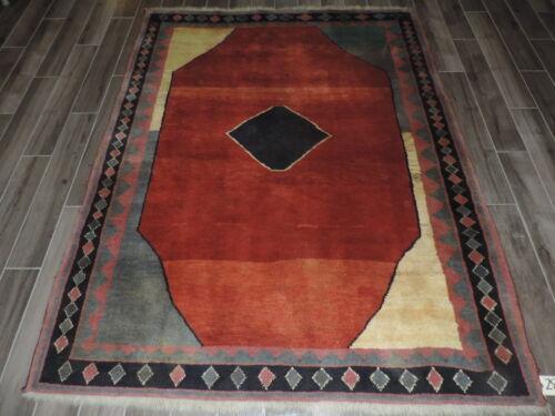 6x8ft. Handmade Gabbeh Wool Rug