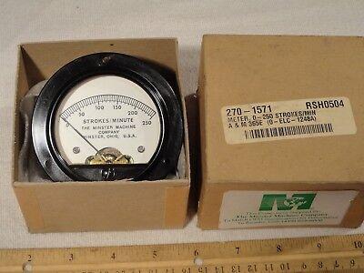 Minster Machine Hoyt58 270-1571 Rsh0504 0-250 Strokesminute Gauge Panel Meter