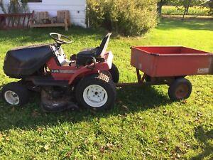 Working riding mower