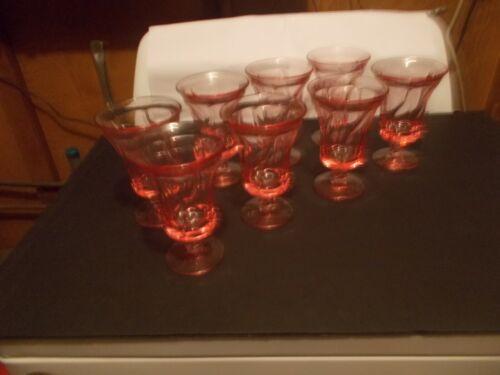Fostoria Set of 8 Water Goblets Jamestown Pattern 1958-1982 5 7/8