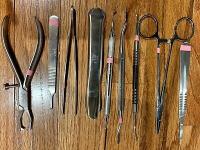 Lot Of 9 Dental Oral Surgery Instruments- Lightly Used Great Condition