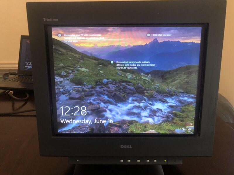 "Dell Sony Trinitron UltraScan P780 17"" Retro Gaming VGA CRT Monitor Black"