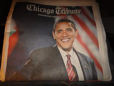 Chicago Tribune Newspaper Wednesday November 5  2008  Obama The Next Prez