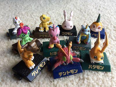 10 mini Digimon Figure Set