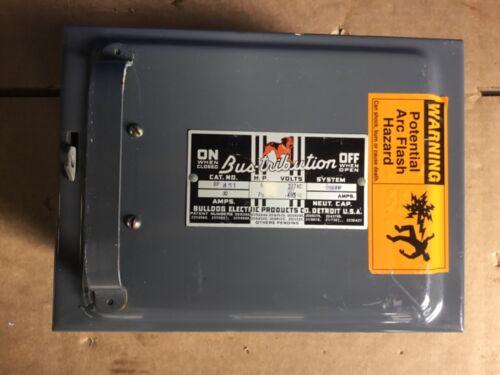 Bulldog Electric 277/480 Volt  30 Amp 3 Phase 4w Bus Duct Plug Bp451