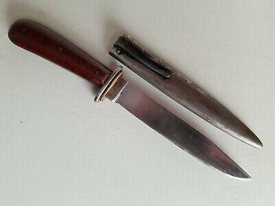 Rare WWII German la Gusstahl Puma Boot Fighting Knife w/Scabbard