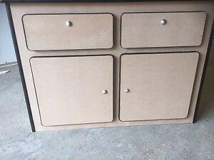Camper pod unit furniture plain mdf inc push buttons for Furniture t trim edging