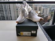 Brand New Adidas NMD R1 PK Gum Bottom Triple White US 9 Southbank Melbourne City Preview