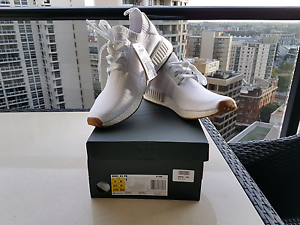 Brand New Adidas NMD R1 PK Gum Bottom Triple White US 9 Southbank Melbourne City Preview