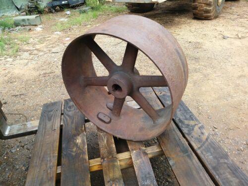 "Large 25"" X 11"" Antique Cast Iron Flat Belt Pulley Excellent Cond"
