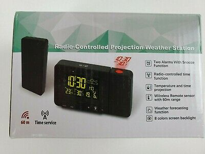 Protmex Projection Alarm Clock, PT3531B WWVB Digital Radio Controlled Projection