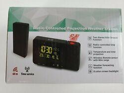Protmex Projection Alarm Clock, PT3531B WWVB Digital Radio Controlled Projection