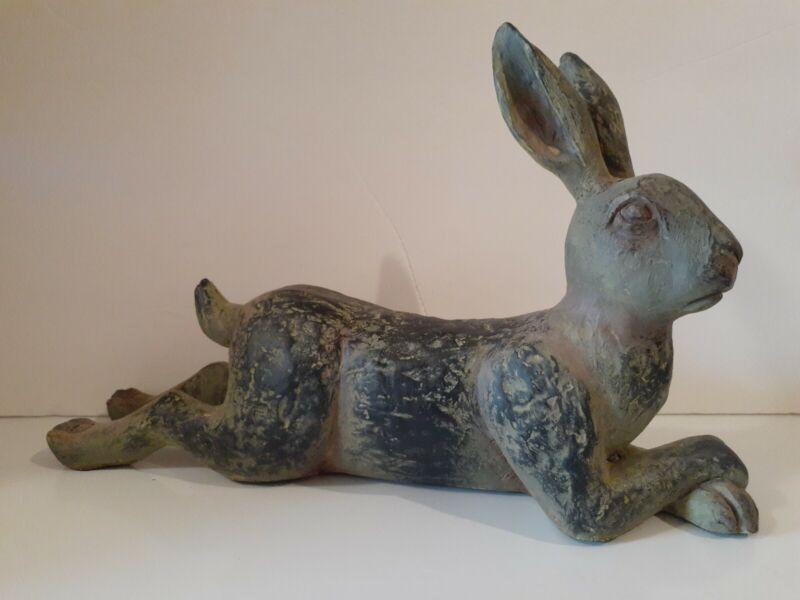 "Pier 1 Imports Distressed Rabbit Bunny Hare Figure 14"" New Sku"