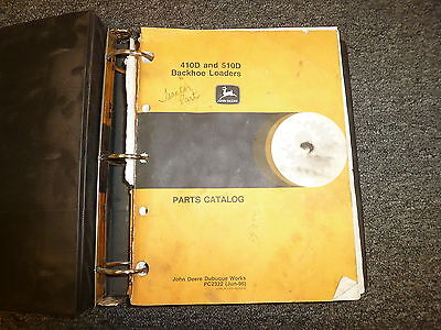 John Deere 410d 510d Backhoe Loader Parts Catalog Manual Book Jun 96 Pc2322