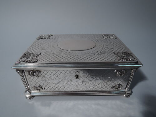 Antique Box - Large Heavy Casket - Austrian 800 Silver  - C 1880