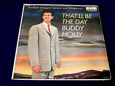 Buddy Holly  Thatll Be The Day  Rare  Colorband  Vg    Decca 8707    Teen Lp