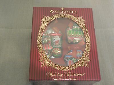 Waterford Holiday Heirlooms - Lismore Christmas Train set/3 - 130841 - NIB