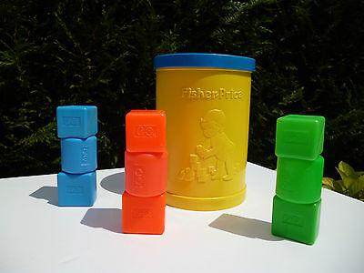 ♥ Jouet Boite A Cube Fisher Price Vintage Réf: 414 Année 1977