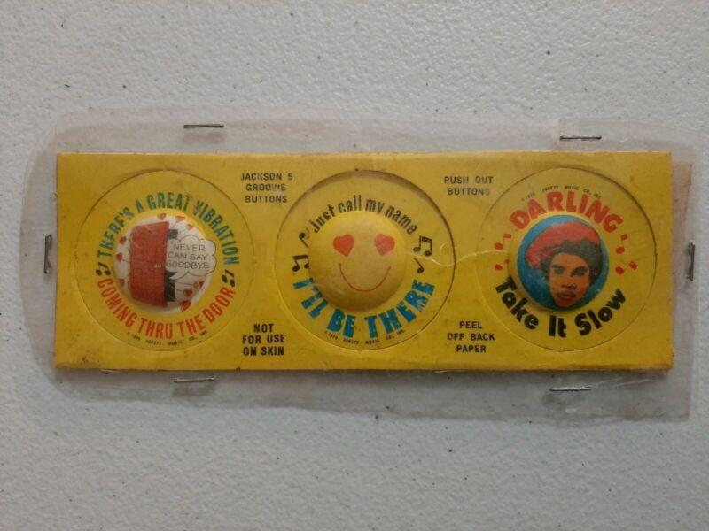 Vintage 1970 Post Alpha-Bits Jackson 5 GROOVIE BUTTONS Cereal Premium