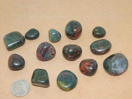 Bloodstone tumbled stones 1/4 pound from India (14977)