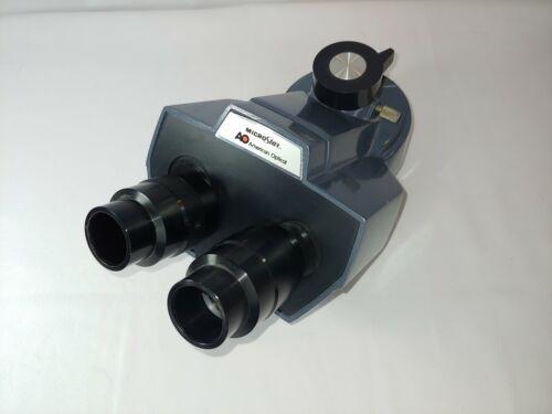 AO American Optical Microstar Trinocular Head One-Ten 110/120 NO EYEPIECES