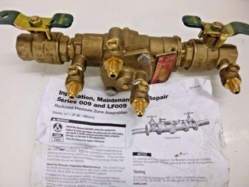 NEW!! WATTS REDUCED PRESSURE ZONE BACKFLOW PREVENTER 3/4 LF009M3-QT-S