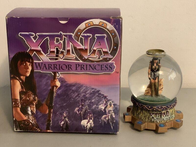 Xena Warrior Princess Snow Globe In Box Collectible Xena Rare TV Series RARE