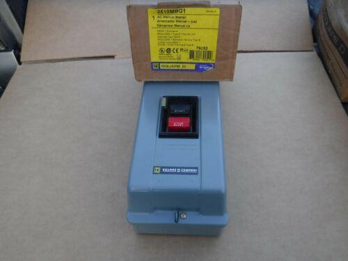 New Square D 2510MBG1 AC Manual Starter Nema 1 Enclosure Start Stop 2510 MBG1