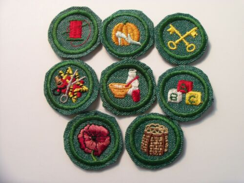 Girl Scout Badge: BMG Fabric Edge (set of 8)