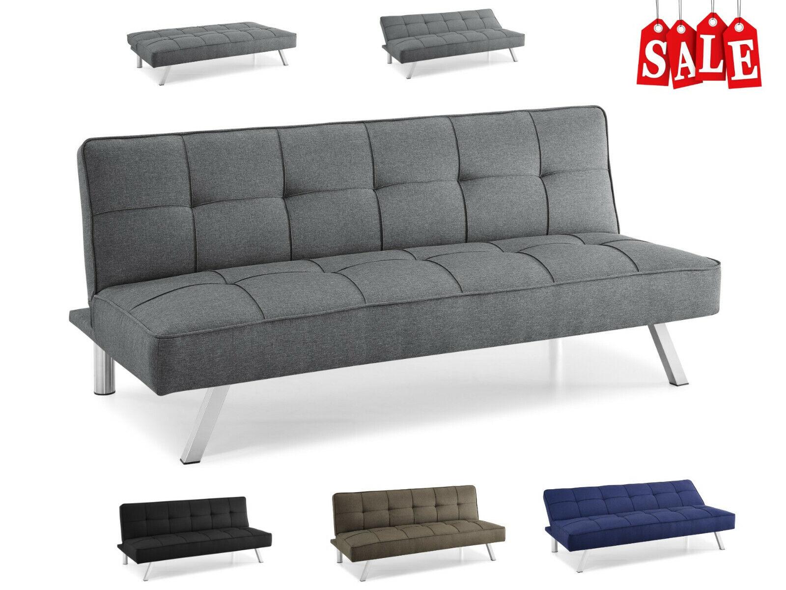Modern Loveseat Futon Sofa Bed Sleeper Convertible Recliner