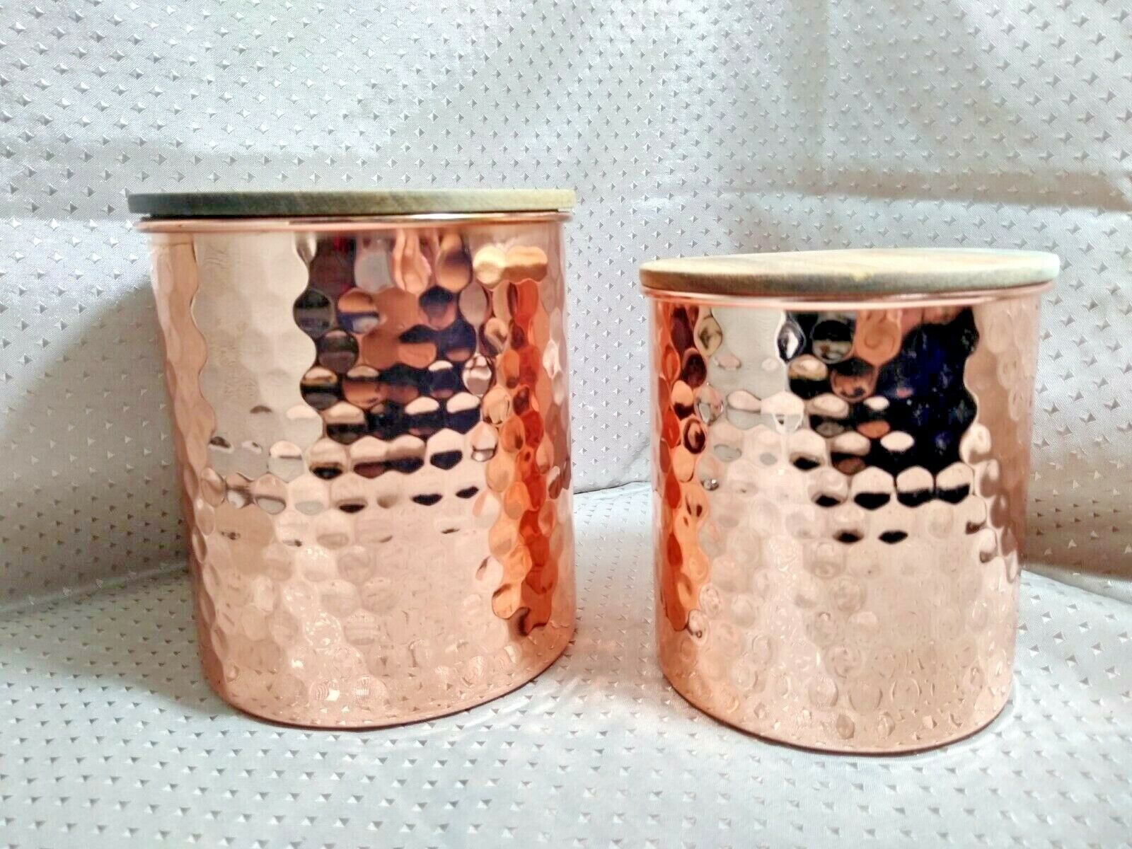 Uncommon James Hammered 2 PC Copper Canister Set FabFitFun