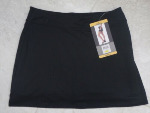 New TRANQUILITY COLORADO CLOTHING YOGA GOLF SKORT SKIRT Solid BLACK, Size SMALL